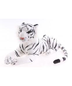Plyšový TIGER - bielo-čierny (24x48 cm)