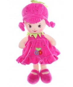 Plyšová bábika JAHÔDKA (v. 33 cm) - cyklámenová
