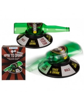 Alkoholová hra fľaša Spin to drink
