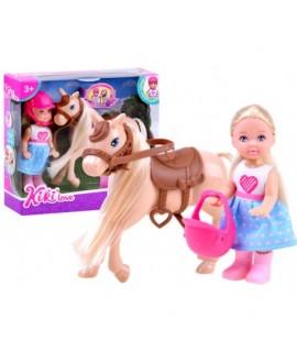 ANLILY Bábika - malá jazdkyňa na koni