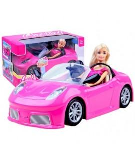ANLILY Bábika v ružovom kabriolete