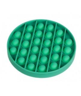 Antistresová senzorická hračka Push Pop Bubble - ROUND Ružová