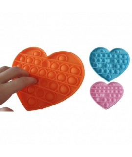 Antistresová senzorická hračka Push Pop Bubble - HEART Ružová