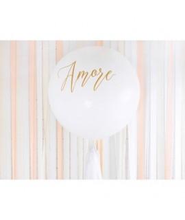 Balón - Amore, biely - 100cm