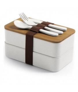 Bambusový box na jedlo 2x700ml