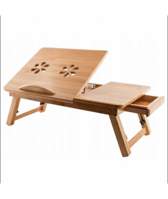 Bambusový skladací stolík pod notebook s ventiláciou
