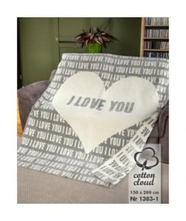Bavlnená deka 150x200 I LOVE YOU