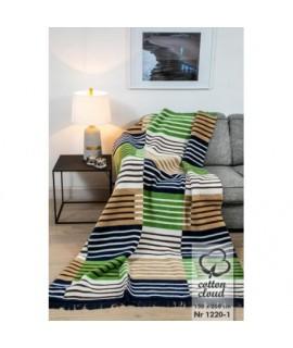 Bavlnená deka hnedo-zelená 150x200