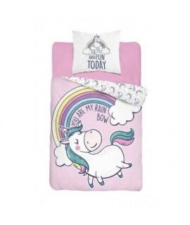 Bavlnené detské obliečky 160x200 Unicorn 3323 A