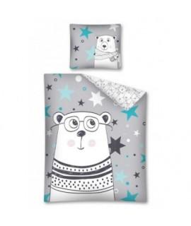 Bavlnené detské obliečky Medveď