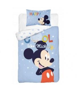 Bavlnené detské obliečky Mickey Mouse Modrá
