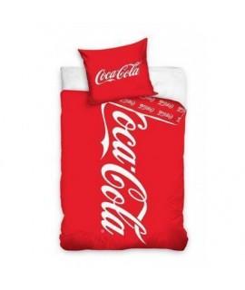 Bavlnené posteľné obliečky Coca Cola 140x200, 70x80
