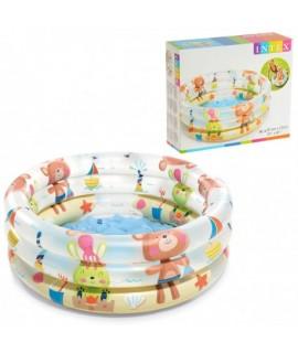 Bazén plážoví kamaráti 3 kruhový 61x22cm