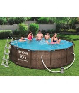 Bazén s konštrukciou Rattan - Bestway Steel Pro MAX Deluxe Series