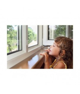 Bezpečnostná kľučka na okná Biela