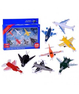 Bojové lietadlá 1:400 - 8ks