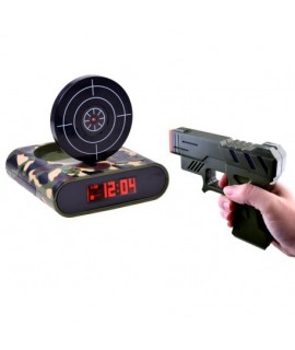 Budík s pištoľou a terčom (ZA2486)