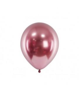 Chromované balóny - Glossy 27cm, 10ks Ružová