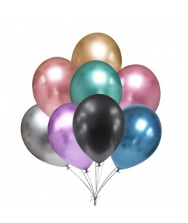 Chrómové balóniky 30 cm - 5 ks mix farieb