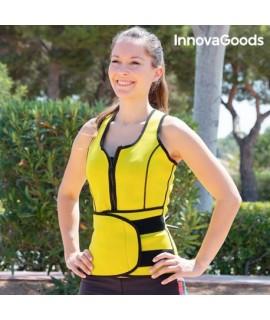Dámska športová sťahovacia vesta so sauna efektom InnovaGoods Sport Fitness L