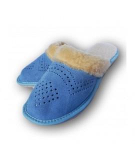 Dámske kožené papuče - Modrá ( D0013 ) 36