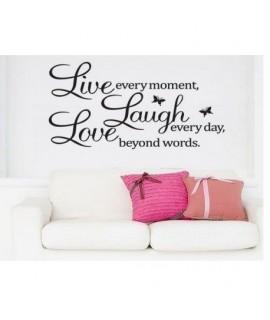 Dekoratívne nálepky na stenu - LIVE LAUGH LOVE, 60x40 cm