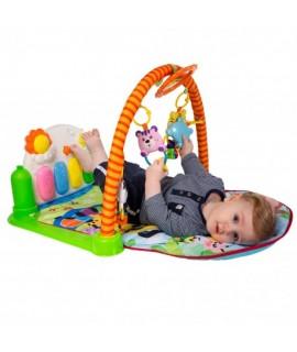 Detská hracia deka s hrazdičkou a pianom (opička)