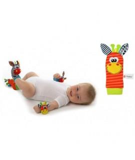 Detská hrkálka - ponožka