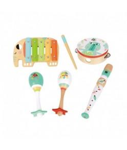 Detské hudobné nástroje so zvieratkami - 6 ks