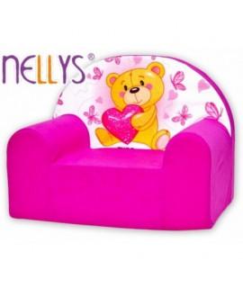 Nellys Detské kresielko - Macko Ružová