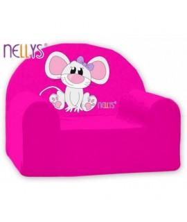 Nellys Detské kresielko - Myška Ružová