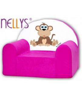 Nellys Detské kresielko - Opička Ružová