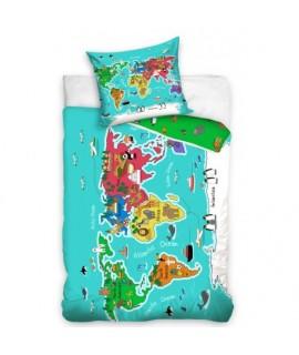 Detské obliečky 140 x 200 Mapa sveta