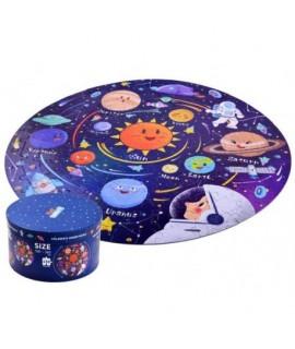 Detské okruhlé puzzle Kozmos