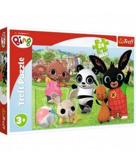 Detské Puzzle - Bing zábava v parku 24 ks