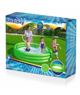 Detský bazén jednofarebný 188x33xm BESTWAY Zelená