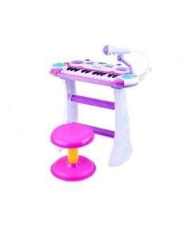 Detský keyboard s mikrofónom a stoličkou