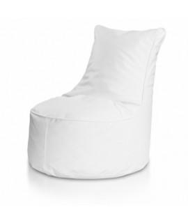 Detský MINI sedací vak ECOPUF - SEAT S - ekokoža E1 - Biela