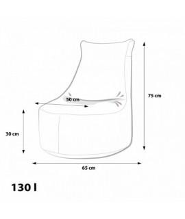 Detský MINI sedací vak Ecopuf - SEAT S modern polyester DG32/NC2