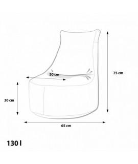Detský Mini sedaci vak Ecopuf - Seat S polyester Soft NC17