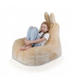 Detský sedací vak ECOPUF - Zajko L - Shaggy AN1608