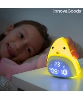 Detský silikonový LED budík - Chick InnovaGoods