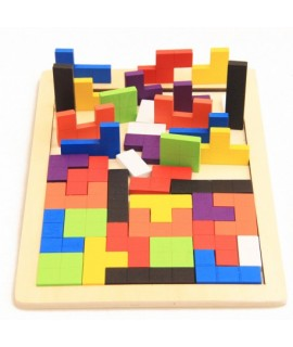 Drevené inteligentné puzzle pre deti - 40 prvkov
