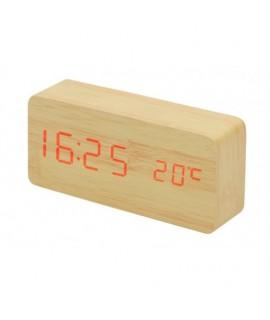 Drevené LED hodiny