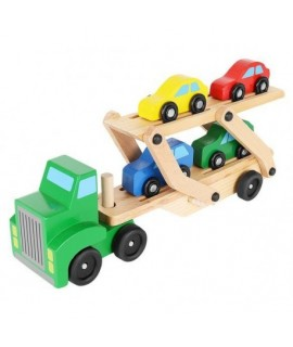 Drevený kamion s autičkami