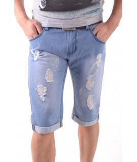 Pánske 3/4 rifľové nohavice - bledomodré P26