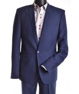 Oblek modrý s modrým stehom v. 188 cm P10