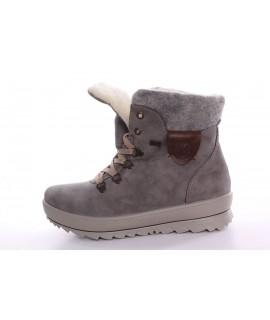Dámska zateplená vodeodolná zimná obuv na platforme RIEKER-TEX (Y4331-40) - sivá (v. 4 cm)