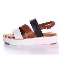 Dámske kožené sandále Tamaris (1-28235-22 456) - Cuoio Comb (v.p. 4cm)
