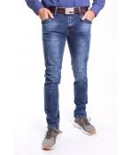 Pánske elastické rifľové nohavice M.SARA DENIM (KA600) - modré